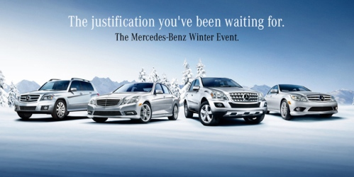 The mercedes benz winter event going on now the for Mercedes benz winter event