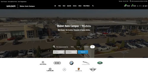 New Walser Auto Campus Website